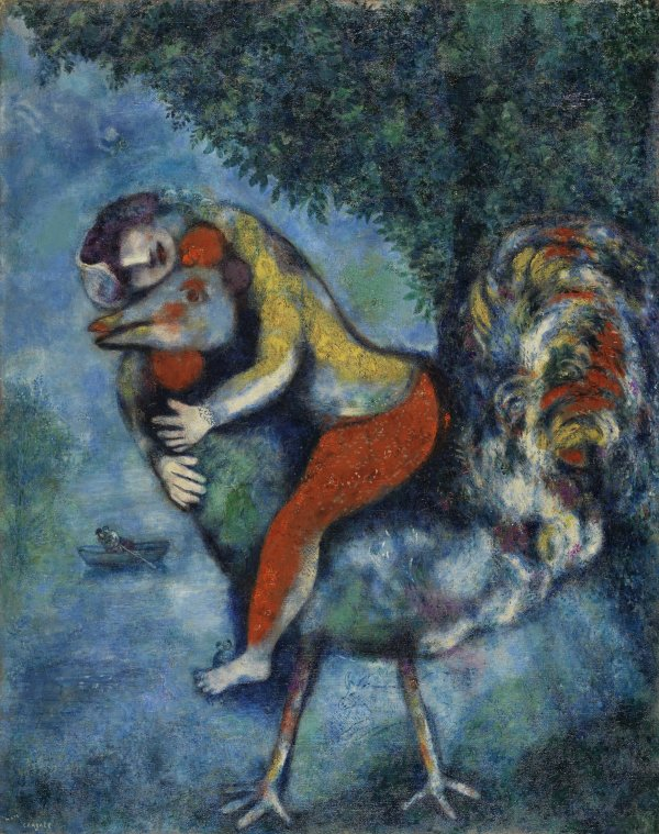 El gallo. Marc (Moses Shagal) Chagall